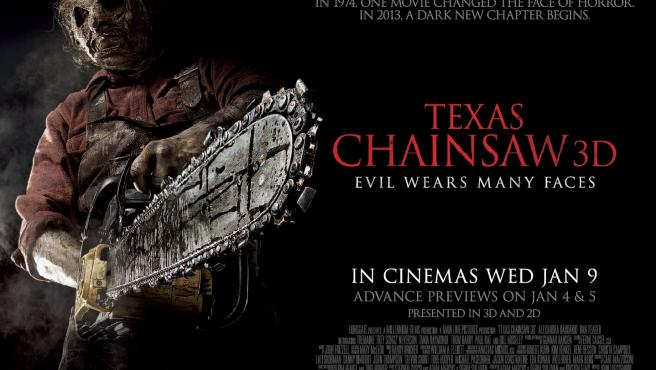 Póster de 'Texas Chainsaw 3-D'.
