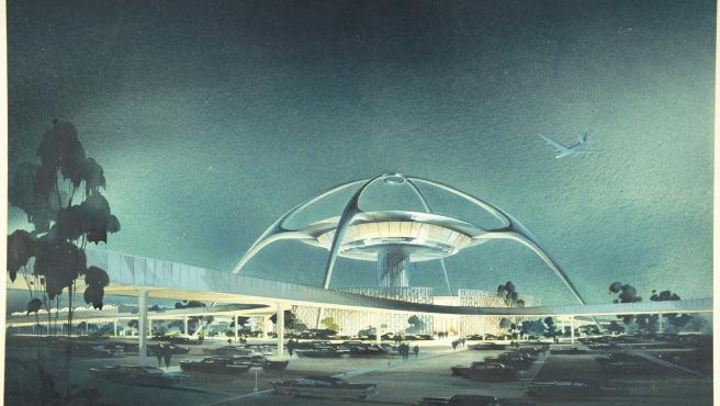 El edificio LAX del aeropuerto de Los Ángeles, diseñado por los arquitectos Charles Luckman, William Pereira, Welton Becket y Paul R. Williams