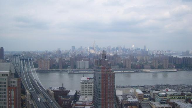 "<p>""El Empire State desde Brooklyn"".</p>"