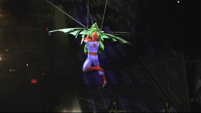 Una escena del musical ´Spider-man: Turn Off the Dark´ de Broadway.